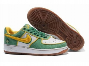 China Nike Low Tops Air Force 1 QueensGreen Gold White Shoes on sale