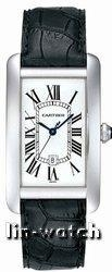 China Cartier Tank American 18kt White Gold Mens Watch W2603256 on sale