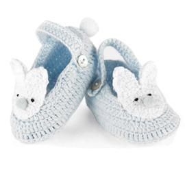 China shoes Mud Pie Blue Crochet Bunny Booties on sale