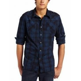 China Affliction Men's Majesty Long Sleeve Military Button Down on sale