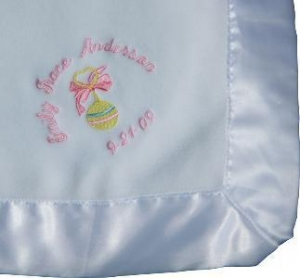 China Embroidered Baby Gifts Personalized Baby Blanket with Design on sale