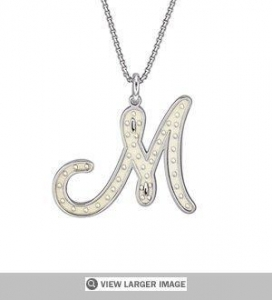 China Script Initial Pendant Necklace on sale