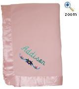 China Satin Trim Fleece Baby Blanket supplier