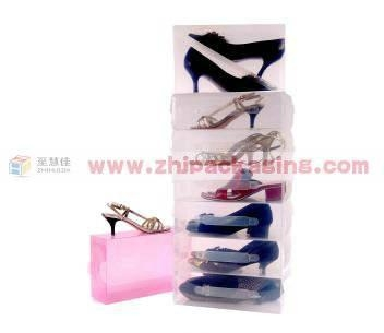 China Clear shoes box PP clear shoes storage
