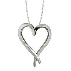 China Sterling Silver Touch My Heart Large Pendant