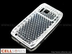 China Cases Transparent Soft Silicone Skin Back Cover Case with Rhombus Pattern for Nokia N8 on sale