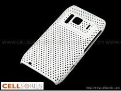 China Cases White Reticulated Hard Back Cover Case for Nokia N8 on sale