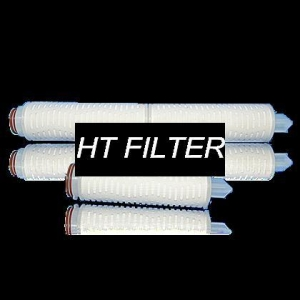 China PTFE(Poly Tetra Fluoro Ethylene) Fold Filter Cartridge Brand:HT Filtration Filter Cartridge on sale