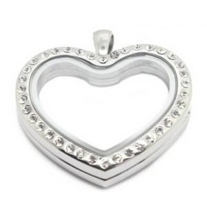 China Heart Shaped Floating Charm Locket on sale