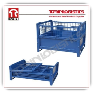 China Top quality metal warehouse storage cages wire mesh container made in China (L12 on sale