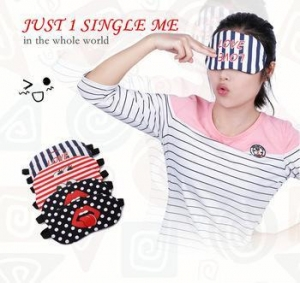 China 1005-1 Individuality Design Sleeping Eye Mask Travel Eye Care Simple Massager on sale