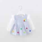 China Q896Hot Fashion Baby Girl Lace Dress Infant Princess Summer Style Sleeveless on sale