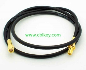 China 3ft RP-SMA Male to Female Cable-RG58 RP SMA antenna cable on sale
