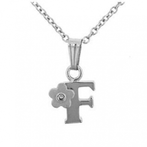 China Jewelry Children's Sterling Silver Initial F Pendant on sale