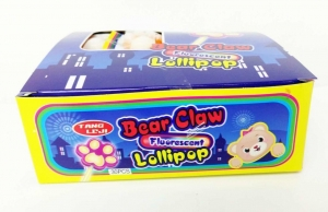 China 10g Bear's Paw Shape Lollipop Healthy Hard Candy With Good Taste on sale