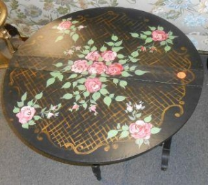 China ANTIQUE HAND PAINTED DROP LEAF TABLE on sale