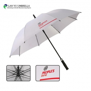 China Golf Umbrella Custom High Quality Golf Windproof Pongee Material Advertising Golf Umbrella on sale