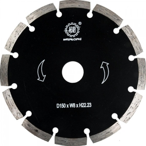 China Cutting Tools 150MM Diamond Tip Blade For Angle Grinder Cutting on sale