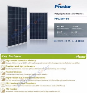 China Prostar low cost 250w solar power panel manufacturers in china on sale