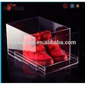 China New products Acrylic Shoe Box for Sale, Clear Shoe Box,plastic storage box on sale