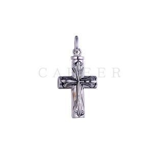 China Silver Jesus Necklace For Men Cross Pendant K0014P on sale