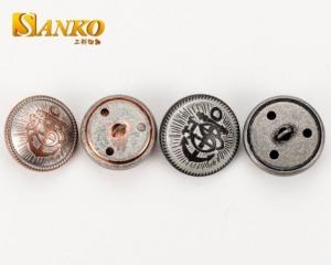 China Button 23mm Antitue Silver Military Button on sale