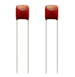 China polyester film capacitor miniaturized metallized polyester film capacitor CL21X on sale