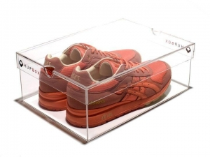China Clear Acrylic Shoe Display Box on sale
