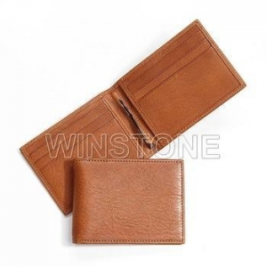 China Wallets Slim goatskin leather money clip wallet on sale