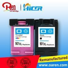 China Refillable ink cartridge auto reset chip for HP 901XL ( CC654A) ink cartridge for HP 901XL black on sale