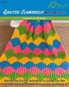 China CROCHET PATTERNS QUILTED CLAMSHELLS Baby Blanket on sale