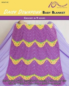 China CROCHET PATTERNS DAISY DOWNPOUR Baby Blanket on sale