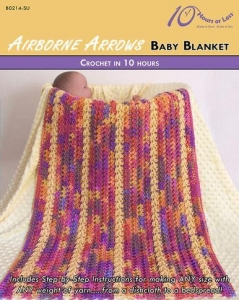 China CROCHET PATTERNS AIRBORNE ARROWS Baby Blanket on sale