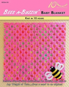 China KNITTING PATTERNS BEES A-BUZZIN' Baby Blanket on sale