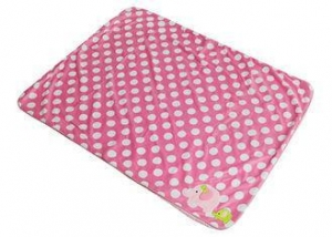 China Pig Pattern Newborn Swaddle Blanket , Baby Wrap Blanket Peach Color on sale
