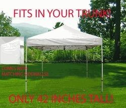 China Impact Canopy BOOTSHADE 10x10 Easy Pop Up Canopy Tent with Matching Sidewalls - Royal Blue - White on sale