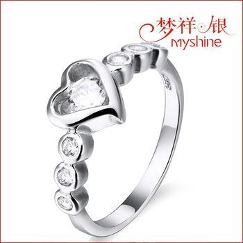 China Myshine wholesale jewelry silver promise rings silver ring designs for girl