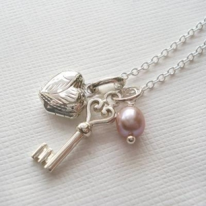 China Heart Locket And Key Necklace on sale