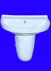 China WASH BASIN WITH HALF PEDESTAL Product CodeOC226 on sale