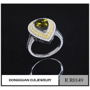China Latest Fashion White Gold Heart Shape Ring Design For Women Wholesale wholesale