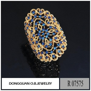 China R7575 Big Size Artificial Gold Plated Jewelry wholesale