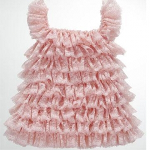 China pink baby girl dress or tank top with knit lace on sale