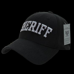 China SHERIFF Black Flex Fit Baseball Cap on sale
