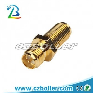 China RF Connector RP SMA Male to Female Bulkhead Adaptor on sale