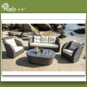 China Sectional Outdoor Furniture Poly Rattan Garden Sofa on sale