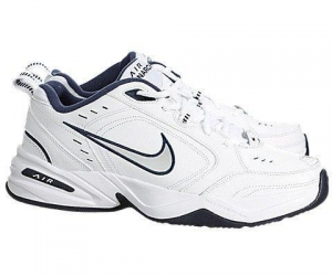 China Nike Men's Air Monarch Iv Running Shoe Metallic Silver/mid Navy (8) on sale