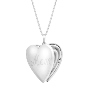China 'Mom' Heart Locket Pendant - Designers on sale