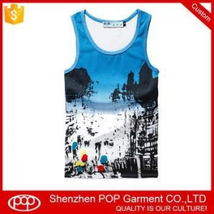 China wholesale hawaii leisure mens cool tank top custom breathable quick dry sandy beach singlet on sale