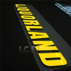 China led epoxy resin light channel letters to make signs 3d light box on sale