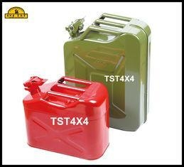 China Anti Ultraviolet 5 Gallon Red Green Steel Jerry Can Military Gas Tank on sale